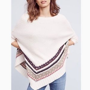 Anthropologie Intarsia Poncho